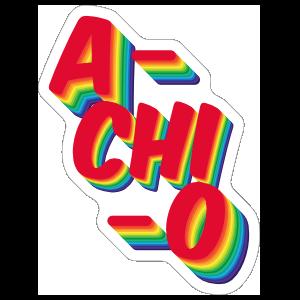 Alpha Chi Omega A Chi O Rainbow Sticker