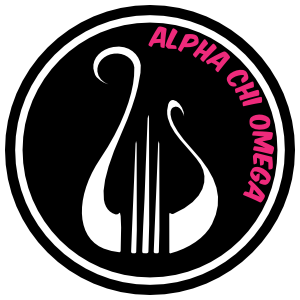 Alpha Chi Omega Circle Lyre Sticker