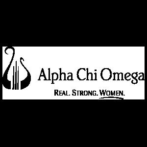 Alpha Chi Omega One Color Tagline Logo Sticker