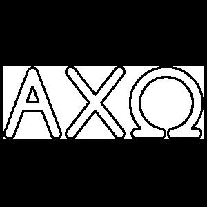 Alpha Chi Omega Outlined Letters Sticker