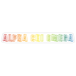Alpha Chi Omega Rainbow Geometric Sticker