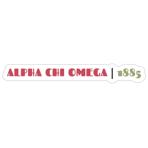 Alpha Chi Omega Year Founded Sticker