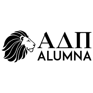 Alpha Delta Pi Alumna One Color Sticker