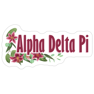 Alpha Delta Pi Flowers Sticker