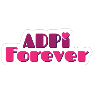 Alpha Delta Pi Forever Sticker