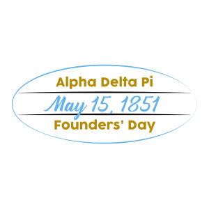 Alpha Delta Pi Founders' Day Sticker