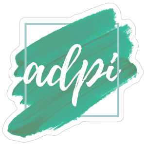 Alpha Delta Pi Paint Brushstrokes Sticker