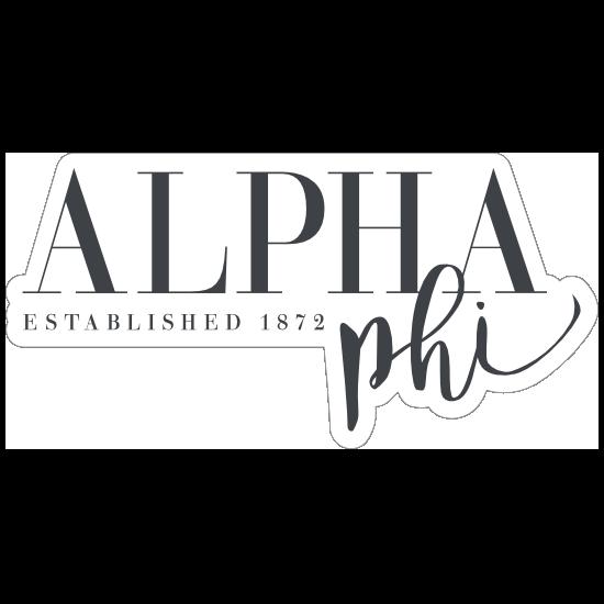 Alpha Phi Established Sticker