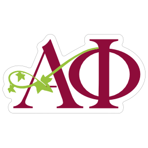 Alpha Phi Letters Sticker