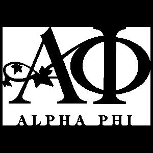 Alpha Phi One Color Logo Sticker