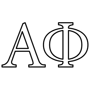 Alpha Phi Outlined Letters Sticker