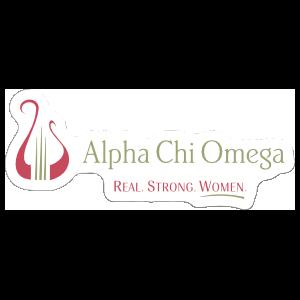 Alphi Chi Omega Tagline Logo Sticker