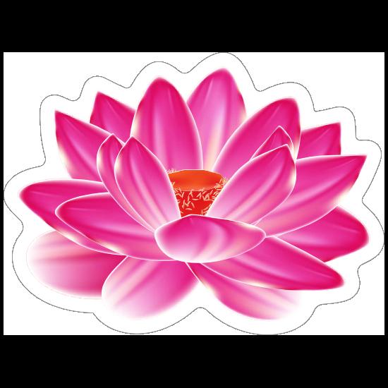 Amazing Pink Lotus Flower Sticker