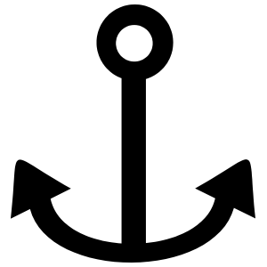 Simple Anchor Sticker