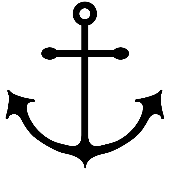 Anchor With Long Wide Hooks Sticker