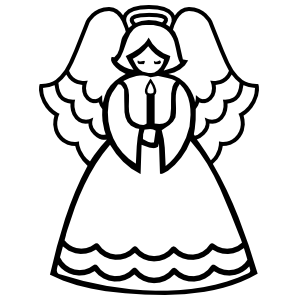 Angel With Candle Sticker