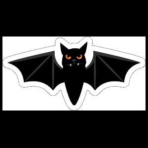 Angry Bat Sticker