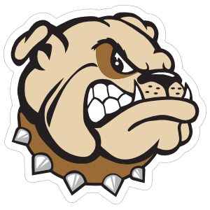 Angry Bulldog Head Mascot Sticker