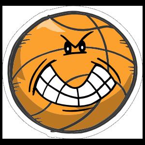 Angry Emoji Basketball Sticker