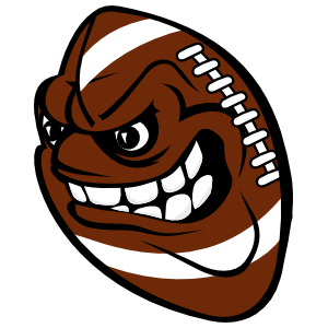 Football With Angry Face Sticker