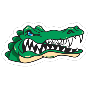 Angry Gator Head Mascot Sticker