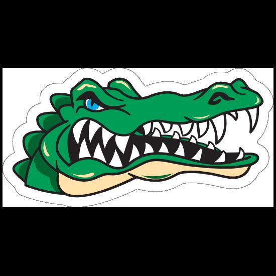 Angry Gator Head Mascot Sticker