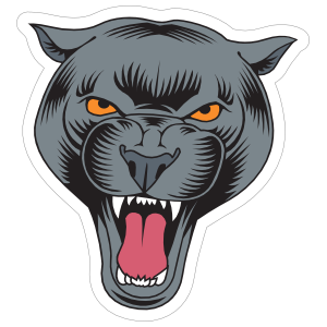 Angry Panther Head Mascot Sticker