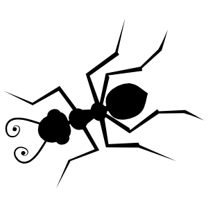 Ant With Swirly Antennas Sticker