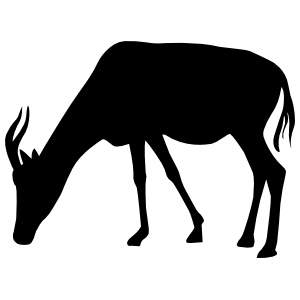 Antelope Grazing Sticker