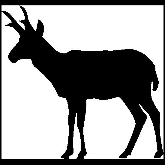 Antelope Silhouette Sticker