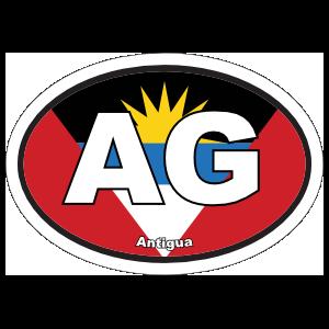 Antigua AG Flag Oval Sticker