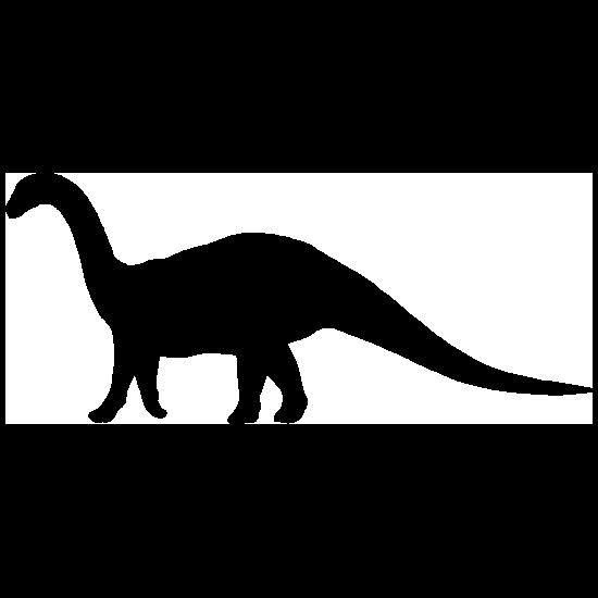 Apatosaurus With Long Tail Dinosaur Sticker