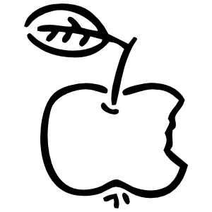 Bitten Apple Sticker
