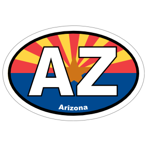 Arizona Az State Flag Oval Magnet