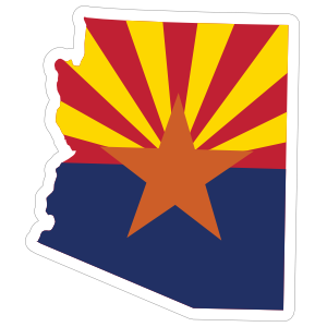 Arizona Flag State Sticker