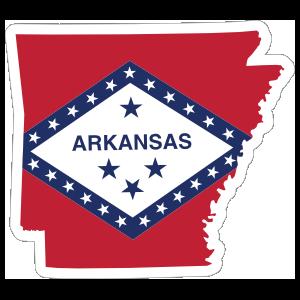 Arkansas Flag State Sticker