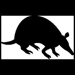 Silhouette Armadillo Sticker
