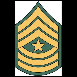 Army Rank E-9 Sergeant Major Sticker