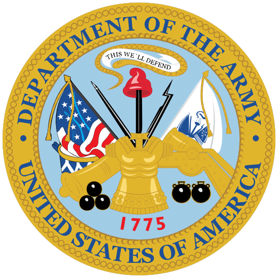 Army Seal Department Of The Army Sticker