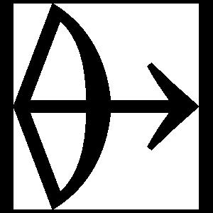 Astrology - Sagitarius Zodiac Symbol Sticker