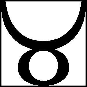 Astrology - Taurus Zodiac Symbol Sticker