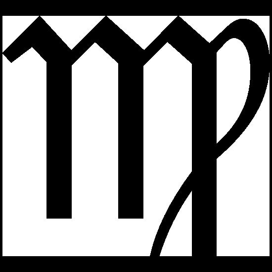 Astrology - Virgo Zodiac Symbol Sticker