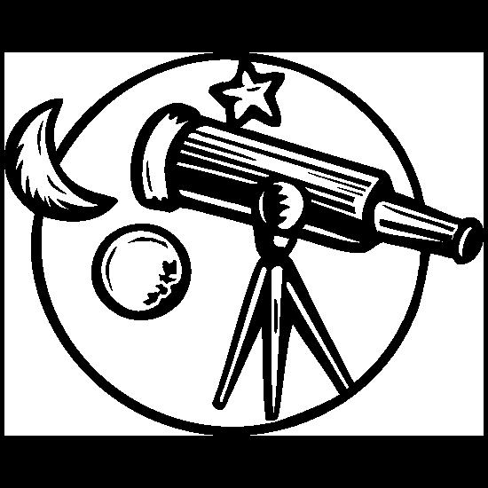 Astronomy Telescope Sticker