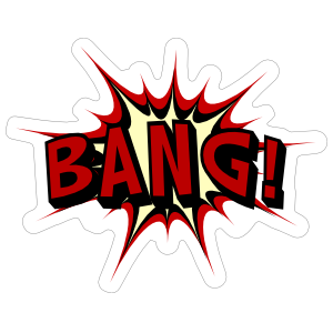 Awesome Bang Comic Sticker