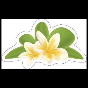 Awesome Plumeria Flower Sticker