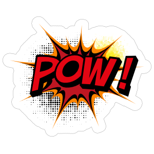 Awesome Pow Comic Sticker