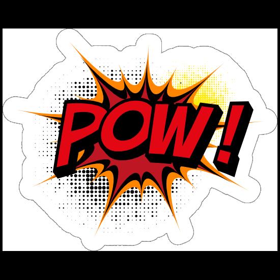 Awesome Pow Comic Sticker