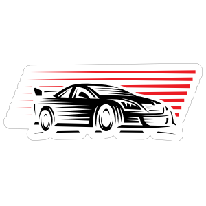 Awesome Racing Car Sticker