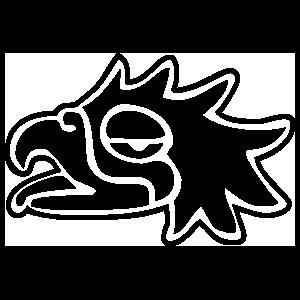 Aztec Eagle Bird Sticker