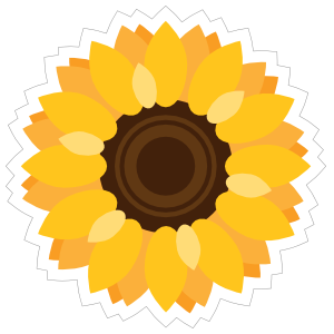 Vibrant Sunflower Sticker